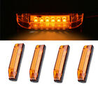 4x 4 White Led Boat Light Utility Strip RV Light 6 LED Clear Lens Waterproof