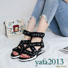 Womens Shoes Sport Sandals Real Leather Fashion Sneakers Rivets Summer Creepers