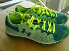 girls youth size 4 underarmour running shoe sneaker turquoise