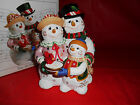 FITZ & FLOYD FROSTY FRIENDS MUSICAL FIGURINE CHRISTMAS NEW
