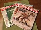 Lot 4 ANSWERS in Genesis Magazine Back Issues Biblical Worldview Christian