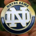 PREMIUM NCAA Notre Dame Fightin Irish Poker Card Protector Collector Coin