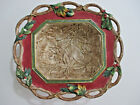 Fitz & Floyd Holly Christmas Lodge Oval Footed Bowl - Large Serving Centerpiece