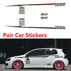 Waterproof Pair Car Styling Whole Body Bumper Sticker BK Material Vinyl Sticker