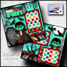 HALLOWEEN vampire 2 premade scrapbook pages paper printed layout BY CHERRY