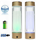 Intelligent Hydrogen Rich Water Ionizer Bottle Generator Antiaging Usb Portable