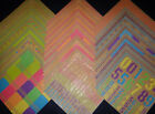 12x12 Scrapbook Paper Neon  Kraft Craft Rainbow Stack Recollections 60 Page Lot