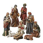 KURT S ADLER 9 HAND PAINTED PORCELAIN 9 PIECE NATIVITY FIGURE SET XMAS DECOR