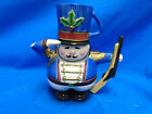 FITZ AND FLOYD ESSENTIALS TEAPOT W/ CUP NUTCRACKER SOLDIER COCOA SNACK THERAPY
