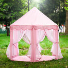 Pink Girls Princess Castle Playhouse Children Kids Play Tent In Outdoor Toys