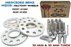 4pc 10mm Mercedes Benz W209 Wheel Spacer Kit 5x112 6656 HB + Extended Bolts