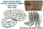 4pc Mercedes Benz W209 Wheel Spacer Kit 10mm  12mm 5x112 6656 HB With Bolts