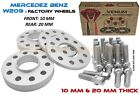 4PC MERCEDES BENZ WHEEL SPACER KIT 10MM  20MM WITH EXTENDED BOLTS FITS CLK320