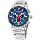 Wenger Blue Dial Stainless Steel Men's Watch 010343106