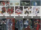 LOT AUTO'S MARK MESSIER FLEER ULTRAS DIE CUTS STICKERS FOIL RC GOLD ALL STAR !