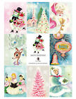 8 Christmas Vintage Retro Hang Tags Scrapbooking Paper Crafts 130