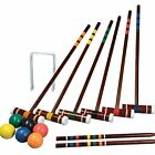 Croquet Game Set Vintage Look Outdoor Lawn Yard For Adults Kids Family Backyard