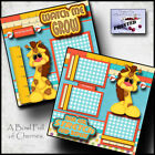 WATCH ME GROW 2 premade scrapbook pages paper printed layout 4 album BABY cherry