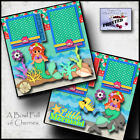 LITTLE MERMAID disney 2 premade scrapbook pages paper piecing printed BY CHERRY