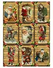 9 Christmas Vintage Santa Sheet Music Hang Tags 21