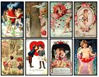 8 Victorian Vintage Valentine Hang Tags Scrapbooking Paper Crafts 153