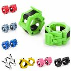 1 2 Olympic Spinlock Collars Barbell Dumbell Clip Clamp Weight Bar Lock Fitness