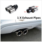 1x Car Styling Stainless Steel Exhaust Dual Pipe Y Pipe Tail Throat Muffler Tip