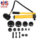 15 Ton Driver Hydraulic Tool Kit 10 Dies 16 101mm Knockout Punch Tool Kit Set US