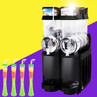 1x Slush Making Machine 2 Tank Snow Frozen Drink Slushy Smoothie Maker US/EU New