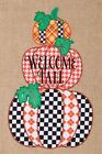 Welcome Fall Applique DblSided FM3494 GARDEN Size 12 x 18 Embroidered