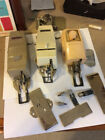 Singer sewing machine feet and button hole attachments lot, vintage