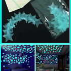 100Pcs 3D Home Wall Ceiling Glow In The Dark Stars Stickers Decal Baby Bed