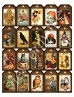 20 Primitive Vintage Halloween Hang Tags Scrapbooking Paper Crafts 68