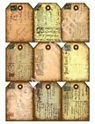9 Antiqued Chic Vintage Postcard Hang Tags Scrapbooking Paper Crafts 191