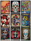 SET OF 9 DAY OF THE DEAD HALLOWEEN SCRAPBOOK CARD EMBELLISHMENTS HANG GIFT TAGS