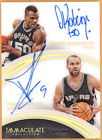 2015-16 David Robinson Tony Parker Immaculate Acetate RC Dual Auto 49