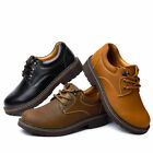 New Casual Men Leather Shoes Black Brown Big Size Man Lace up Oxfords US