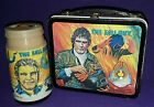 Vintage 1981 FALL GUY metal lunch box and Thermos Lee Majors lunchbox