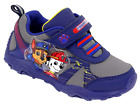 PAW Patrol Light Up Sneakers Toddler Boys shoes size 9 navy Easy put on and Off