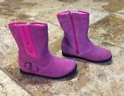 Momo grow Sydney Pink Suede Leather Boots Toddler size 12 Runs Small like 11