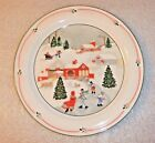 SANGO SILENT NIGHT BY JOAN LUNTZ CHRISTMAS DINNER PLATE! 10 1/2 INCHES-EUC