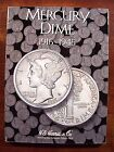 MERCURY DIME 78 SILVER COIN SET IN VG - FINE CONDITION IN NEW HARRIS COIN FOLDER