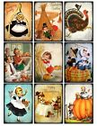 9 Thanksgiving Vintage Hang Tags ATC Scrapbooking Paper Crafts 379