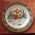 mary engelbreit christmas plate 'home sweet home' never used year 2000
