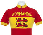 NORMANDIE NORMANDY VINTAGE RETRO CYCLING JERSEY EROICA MAILLOT CYCLISTE Sz M