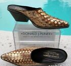 Donald Pliner Western Couture Hand Painted Genuine Python Mule Shoe New 6 595