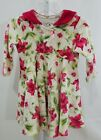 Baby Lulu Boutique Toddler Girl Long Sleeve Fall Dress 12 Months Floral Print