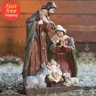 Outdoor Nativity Set Handpainted Resin Scene Christmas Decoration Jesus Statue