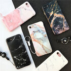 For iPhone 7 6S 6 8 Plus Retro Marble Design Texture TPU Soft Rubber Case Cover