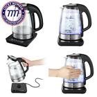 Electric Kettle Coctione Glass Digital Kettles Double Wall Cool Touch Cordless R